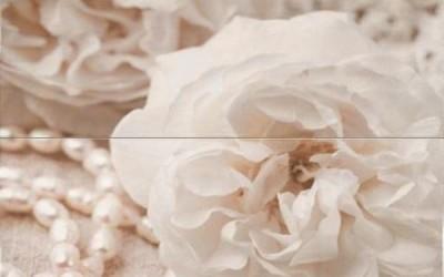 колекции за баня - декор роза с перли 1910 размер 5050 см